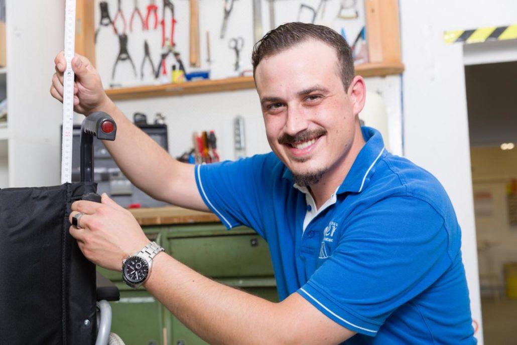 Sanitätshaus Götzen Galerie Rollstuhl Herstellung