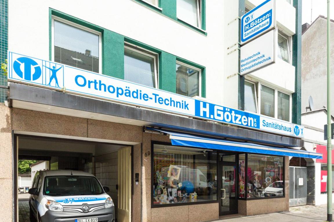 Sanitätshaus Götzen Kontakt Laden außen