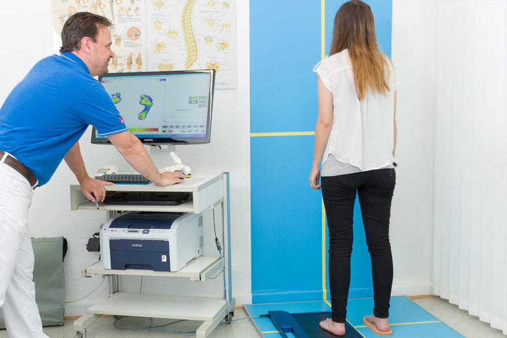 Sanitätshaus Götzen Leistung Fußdruckmessung