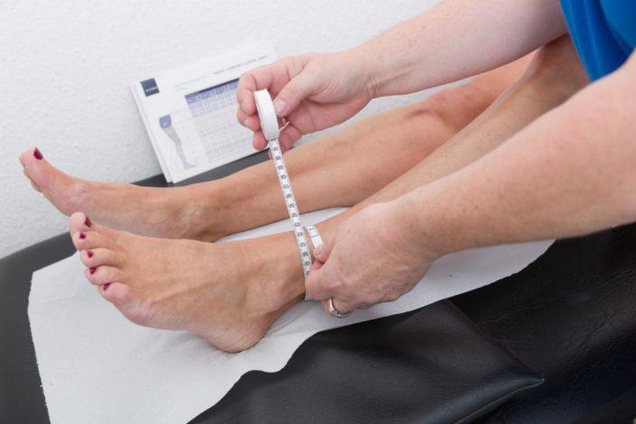 Sanitätshaus Götzen Leistungen Bandagen Messung