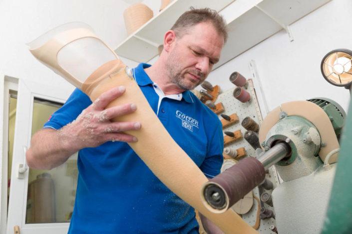 Sanitätshaus Götzen Leistungen Orthesen und Prothesen Fräsen