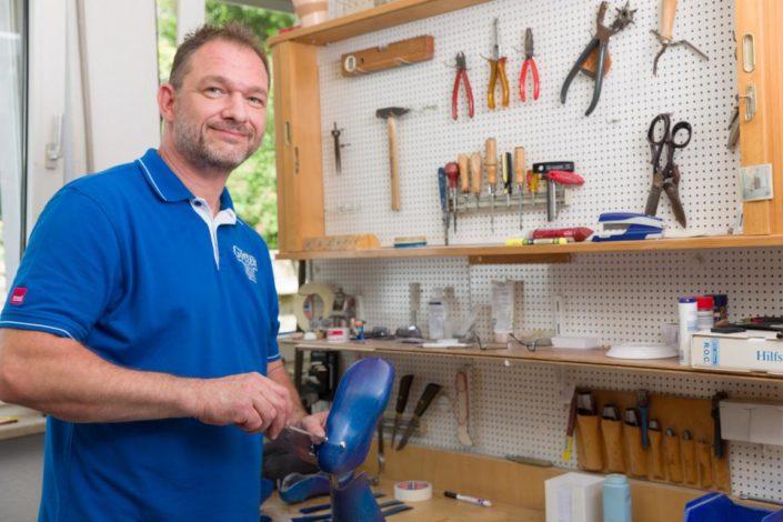 Sanitätshaus Götzen Leistungen Orthesen und Prothesen Herstellung Werkstatt
