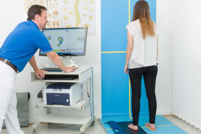 Sanitätshaus Götzen Leistungen orthopädische Schuheinlagen Beratung Scan